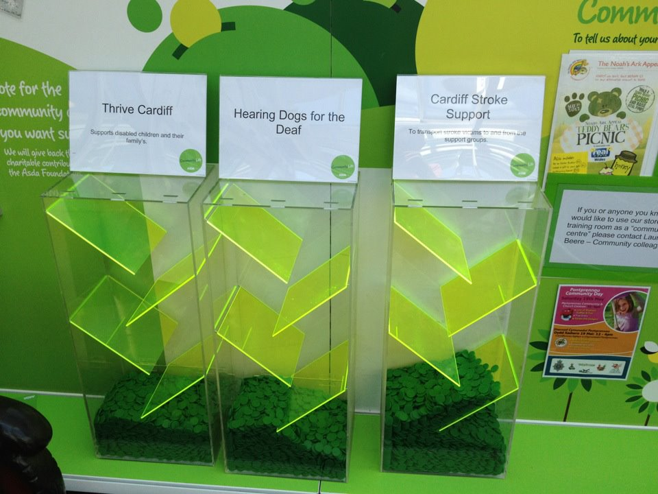 Asda Tokens Thrive Cardiff Registered Charity 1071500